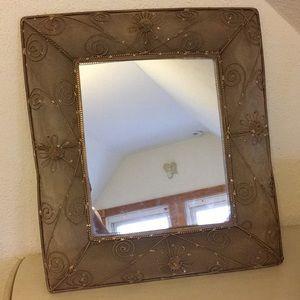 Pier 1 Mesh Flower Mirror
